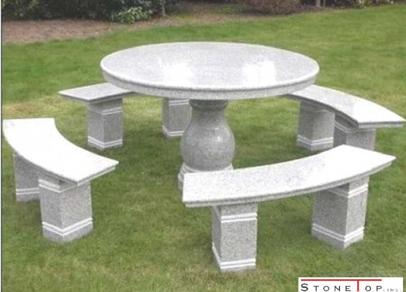 Stone Furnishings in and out of the home garden seating