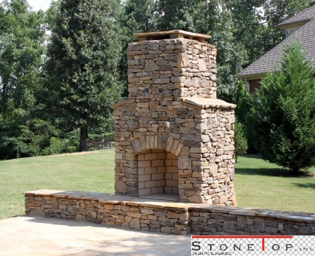 Plans To Build Outdoor Fireplaces For Homes Stonetop Inc